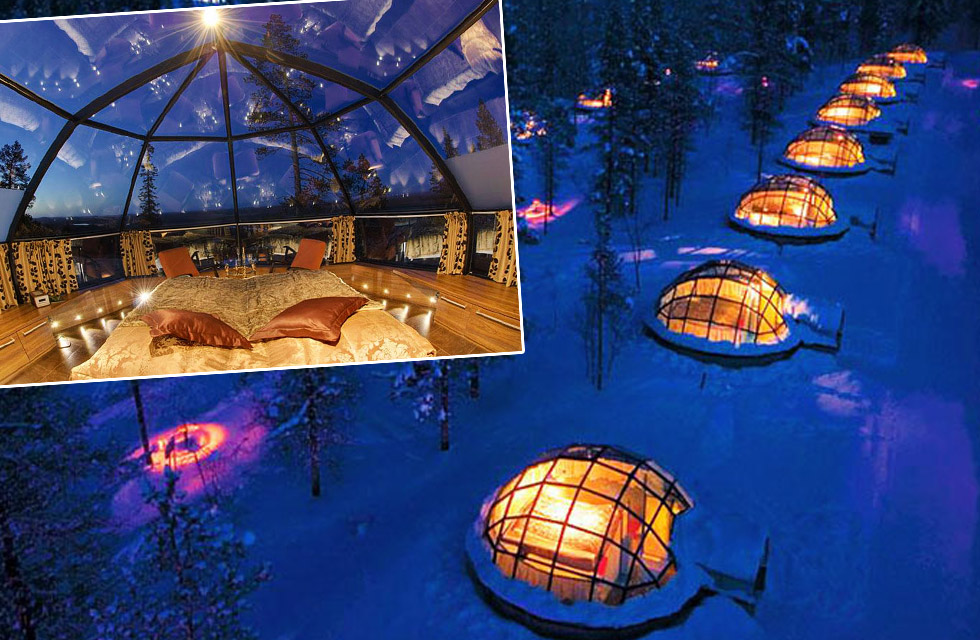 Finland Glass House Northern Lights
